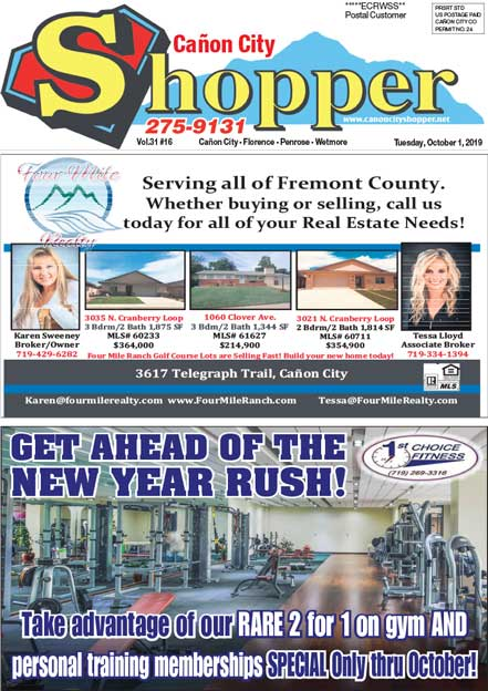 Cañon City Shopper ~ October 1, 2019